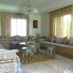 salon traditionnelle dans une maison de haute standing