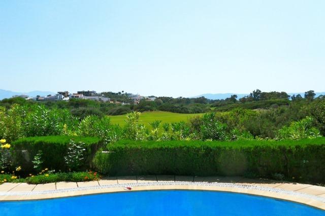 piscine entouré de la verdure dans une villa