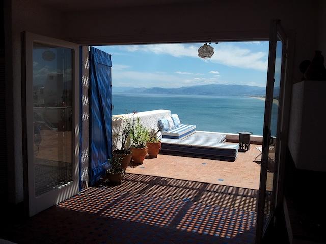chambre a coucher vue sur mer