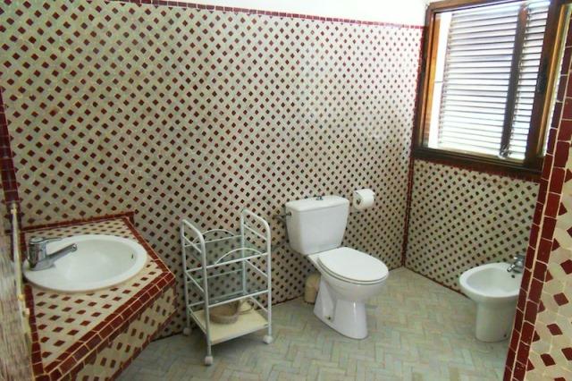 toilette dans une villa