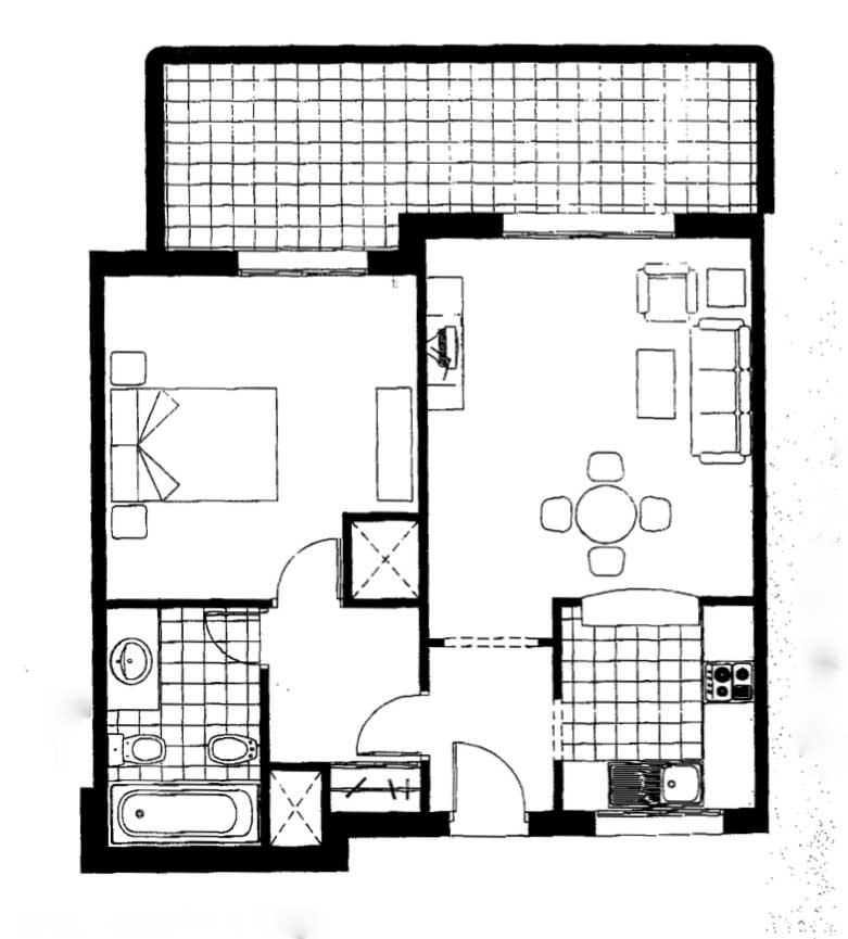 plan d'un appartement a vendre