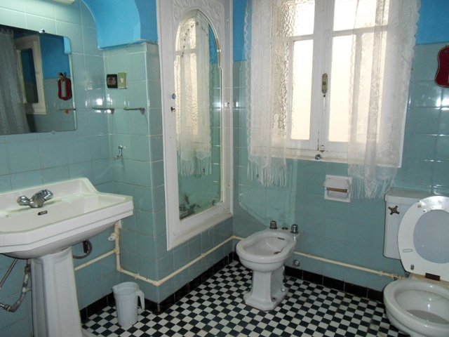 salle de bains en bleu