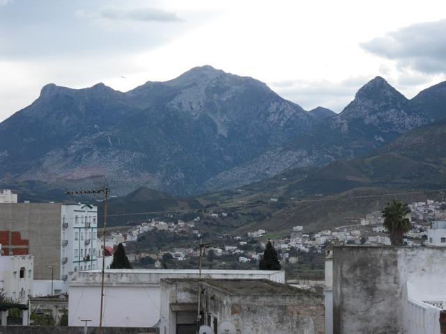 belle vue sur les montagnes de Tétouan