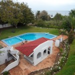 vue piscine grande villa à vendre