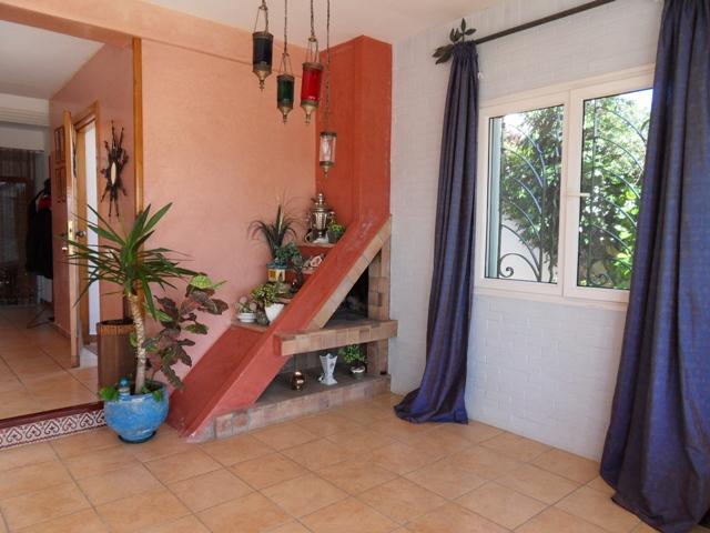 villa avec coin cheminée